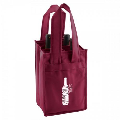 4-Bottle Reinforced Wine Bags - Merlot - W3