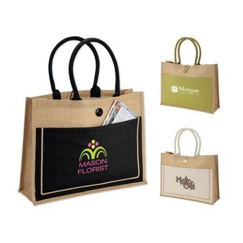 Eco-Friendly Jute Rainforest Tote Bags