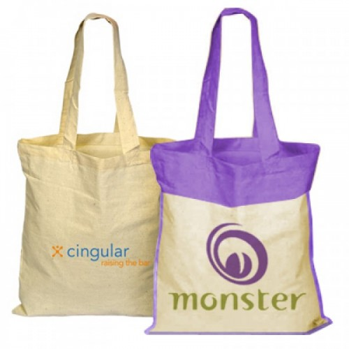 Organic Cotton Colored Tote Bags - Natural & Custom - OC1