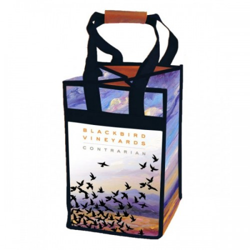 Recycled PET 4-Bottle Wine Bags - W8