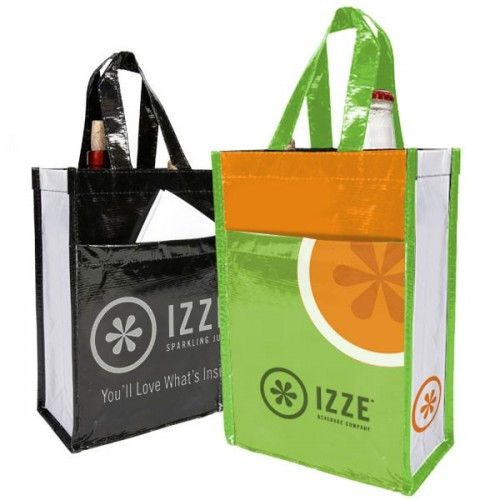 Reusable 2 Bottle Recycled Wine Bag - W6