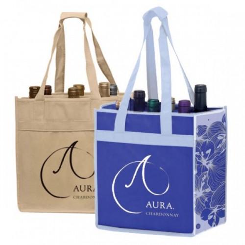6-Bottle Vineyard Bags - W14