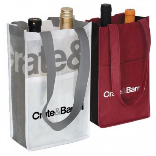 2-Bottle Contrast Wine Bags - W1