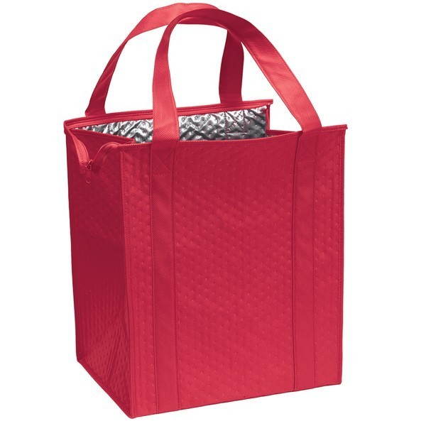 Custom Large Insulated Cooler Totes Red Cl1