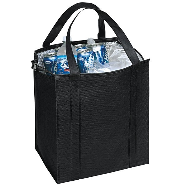 Custom Large Insulated Cooler Totes Black Cl1