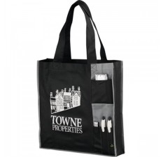 Custom Pocketed Tradeshow Bags - Gray - TB1