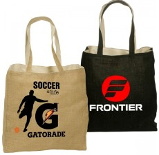 Wholesale Promotional Reversible Jute Totes