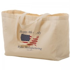 Organic Cotton Shopping Bags with Accent Trim - OC12