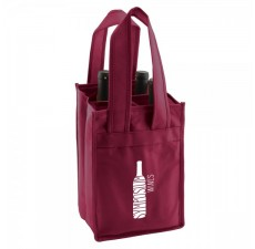 4-Bottle Reinforced Wine Bags - Merlot - W3