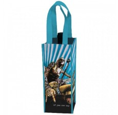 Recycled PET 1-Bottle Wine Bags - W7